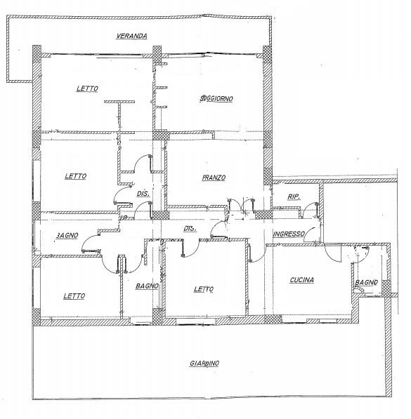 Planimetria appartamento signorile in ottime condizioni for Planimetria appartamento